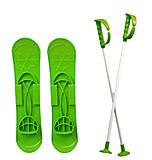 Детские лыжи «SKI BIG FOOT» зеленые, 6586, цена