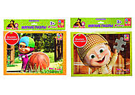 Детские Мягкие пазлы А4  «Маша и Медведь»35 элементов, VT1102-07, фото
