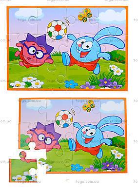 Детские мягкие пазлы А5 «Смешарики», VT1103-34