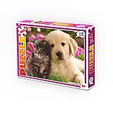 Детские пазлы «Кошка и собака», 104 детали, 200-11, отзывы
