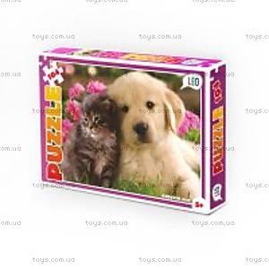 Детские пазлы «Кошка и собака», 104 детали, 200-11, купить