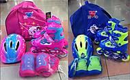 Детские ролики с защитой и шлемом, размер 30-34, RS17014, отзывы