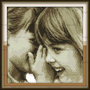 Детские секреты, вышивка картины нитками, R354