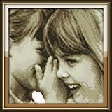 Детские секреты, вышивка картины нитками, R354, фото