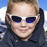 Детские солнцезащитные очки Koolsun бело-голубые серии Sport (Размер: 6+), KS-SPWHSH006, купить