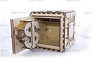 Деревянный 3D пазл «Сейф», 700011, купить
