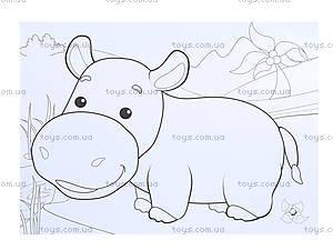 Детский альбом «Рисунки с наклеек. Животные», Л223008Р, фото
