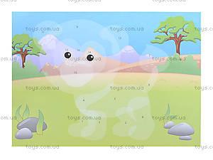 Детский альбом «Рисунки с наклеек. Животные», Л223008Р, игрушки
