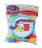 Детский барабан «Слоник и мишка» голубой, R376, купить