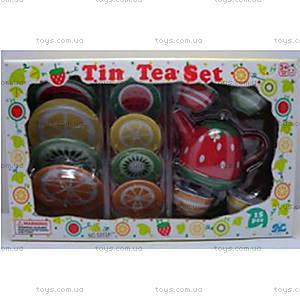 Детский чайный сервиз с изображением фруктов, S053P