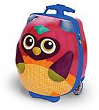 Детский чемодан на колесиках «Путешествие совенка Ву», OS3100312, фото
