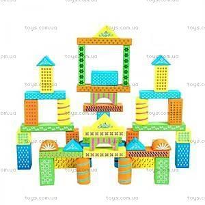 Детский деревянный конструктор, 48 деталей, Д366у