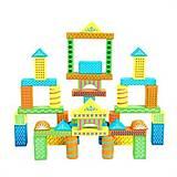 Детский деревянный конструктор, 48 деталей, Д366у, детские игрушки