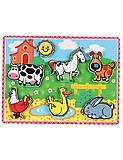 Детский деревянный пазл «Домашние животные», 56438, отзывы