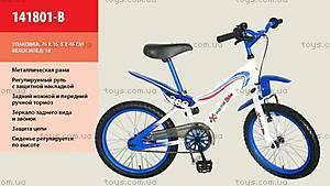 Детский двухколесный велосипед «Extreme bike», сине-белый, 141801-B