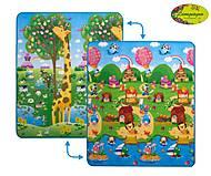 Детский двухсторонний коврик «Большая жирафа и Солнечный день» малый, LP009-150