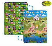 Детский двухсторонний коврик «Цветные циферки и Прогулка с друзьями», LP006-120, фото
