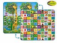 """Детский двусторонний коврик """"Большая жирафа и Красочная азбука"""" 200х180 см, LP012-200, купить"""