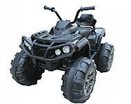 Детский электромобиль - квадроцикл с MP3, T-733 BLACK, фото