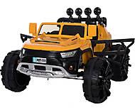 Детский электромобиль T-7820 YELLOW джип желтый РУ, T-7820, toys