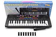 Детский электронный синтезатор, с микрофоном, 3768, фото