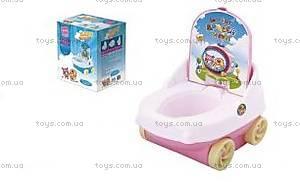 Детский горшок со спинкой, на колесах, BT-CP-0001