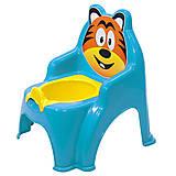 Детский горшок-стульчик «Тигр» (голубой), 013317/01, цена
