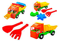 Детский грузовик Mini truck с набором для песка, 39157, фото