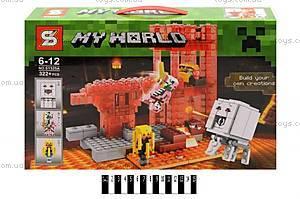 Детский конструктор Minecraft, 322 детали, SY525AB