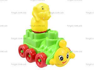 Детский конструктор «Паровоз», 02-406, игрушки