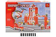 Детский конструктор «Пожарный участок», 21801, фото
