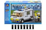 Детский конструктор «Полицейский грузовик», 135 деталей, 6730