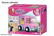 Детский конструктор Розовая мечта «Delivery Car», 102 детали, M38-B0520R, отзывы