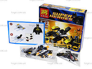 Детский конструктор Super Heroes, 4 вида, 78040, игрушки