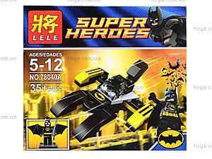 Детский конструктор Super Heroes, 4 вида, 78040, детские игрушки
