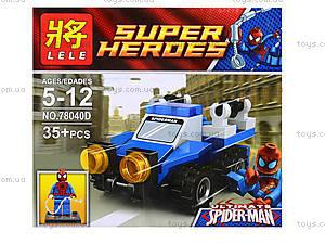Детский конструктор Super Heroes, 4 вида, 78040, toys