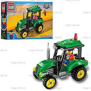 Детский конструктор «Трактор», 112 деталей, 1102