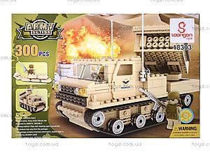 Детский конструктор «Военная машина», 300 деталей, 18303, купить
