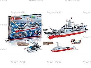 Детский конструктор «Военный корабль», 549 деталей, 20101