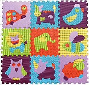 Детский коврик-пазл «Веселый зоопарк», GB-M129А2