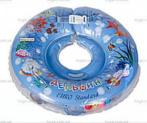 Детский круг «Delfin», голубой, 200018