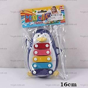 Детский ксилофон «Пингвин», 30112AB, купить