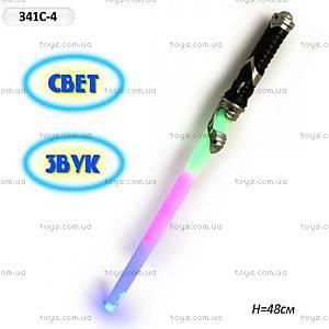 Детский меч со звуковыми и световыми эффектами, 341C-4