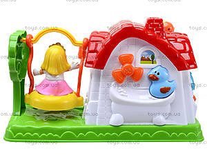 Детский музыкальный домик с куклой, SG-2984, купить