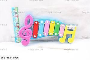 Детский музыкальный ксилофон в пакете., 20099
