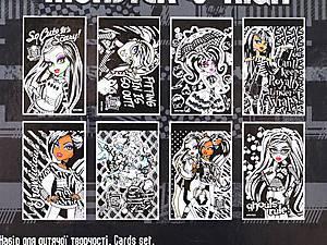 Детский набор бархатных открыток Monster Hight, MH14-219K, отзывы