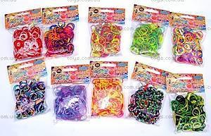 Детский набор для плетения цветными резинками, SV11821, игрушки