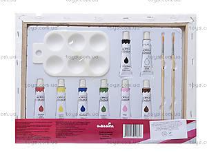 Детский набор для росписи по холсту «Лепестки сакуры», 7123, фото