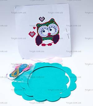 Детский набор для вышивания крестиком «Совушка», 57897, купить