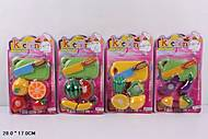 Детский Набор «Овощи и фрукты», делятся пополам, 060, купить